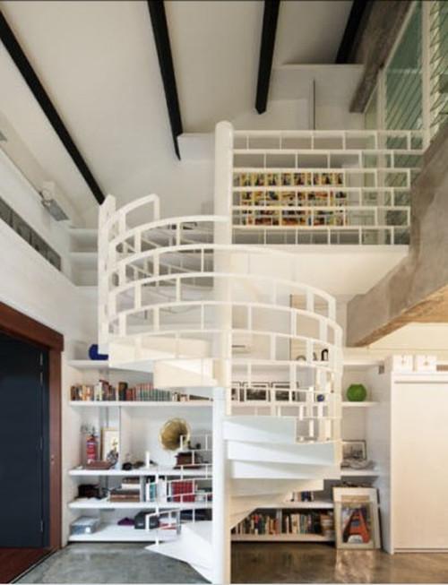小户型跃层楼梯装修效果图 110小户型跃层楼梯装修案例图片