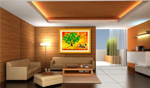 客厅新款十字绣效果图 客厅十字绣图案推荐图片