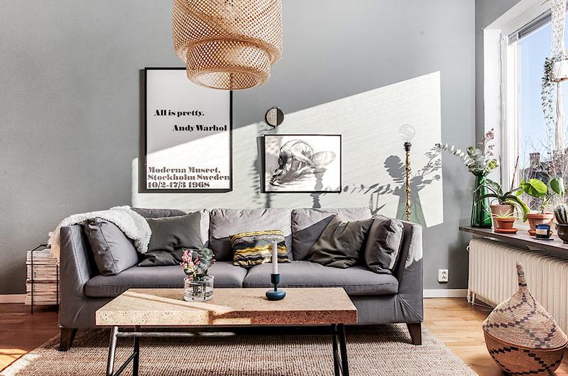 59平北欧风格一居客厅装修设计