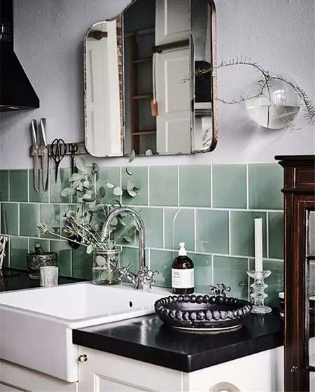 小户型厨房装修瓷砖效果图