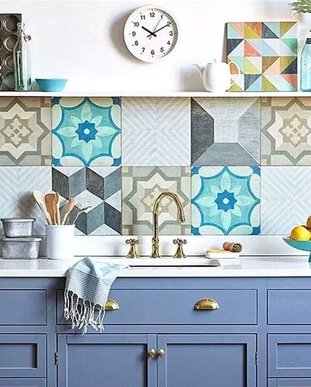 美式风格厨房装修瓷砖贴图
