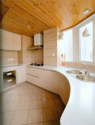 弧形厨房造型设计参考图