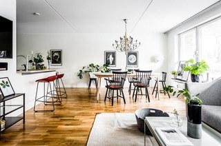 北欧风格二居室客厅茶几图片