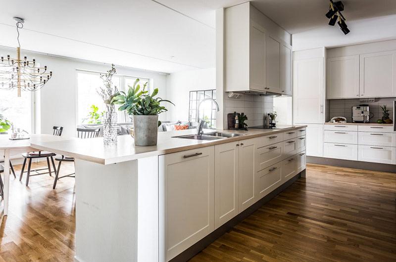 北欧风格二居室开放式厨房装修