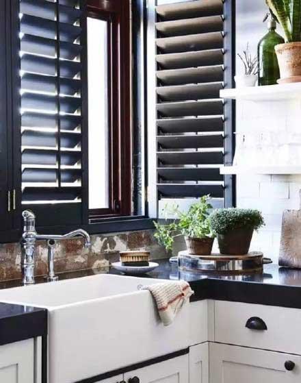 厨房百叶窗图片大全