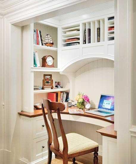 白色衣柜书房图片大全