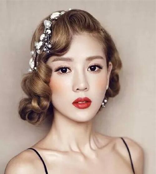 短发新娘发型图片2017 短发怎么做新娘发型_新娘造型