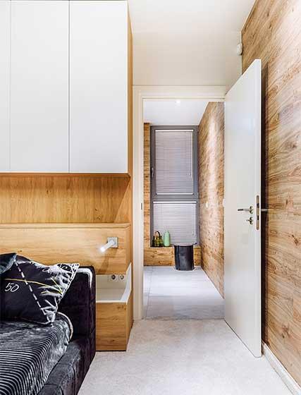 现代风复式卧室平面图