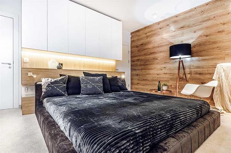 现代风卧室设计构造图