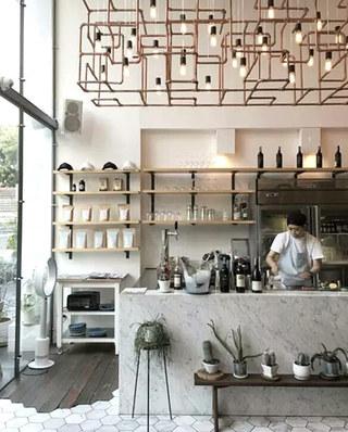 咖啡厅吧台图片