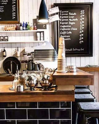 小咖啡馆吧台设计