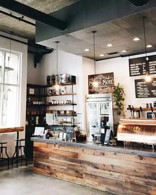 咖啡屋吧台装修效果图