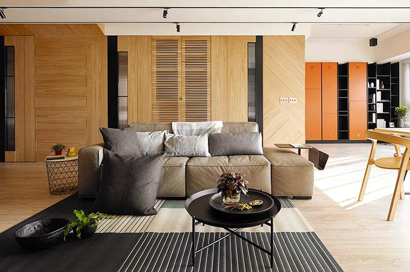 132平简约公寓装修休闲沙发图片