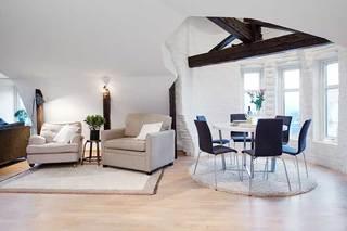 60㎡北欧风公寓会客厅图片