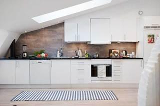 60㎡北欧风公寓设计厨房效果图