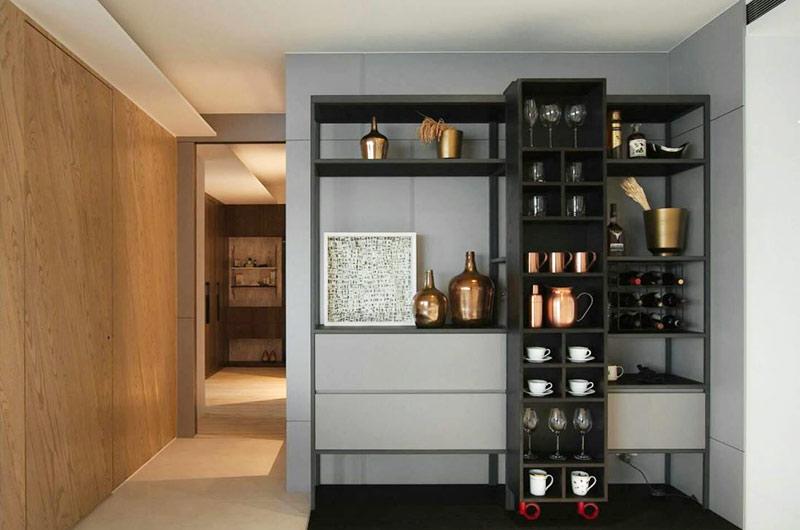 简约风格公寓酒柜设计图