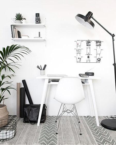 小书房墙面书架设计