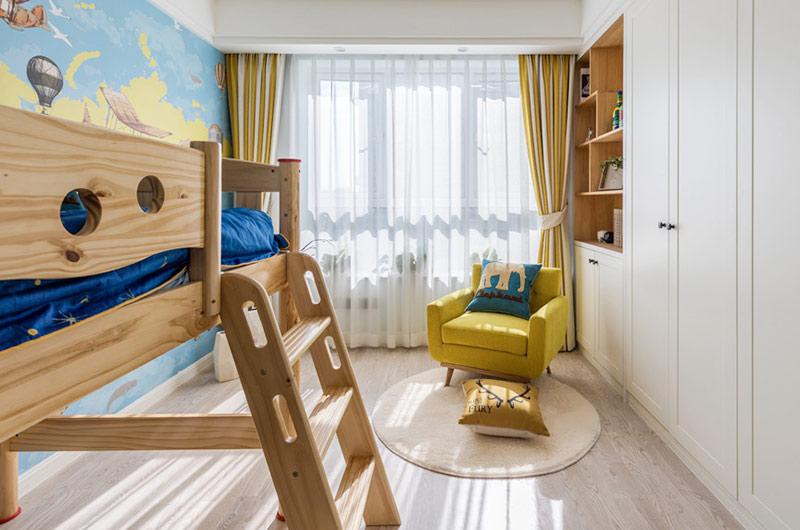 140平北欧风格三居儿童房装修