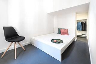 110平单身公寓改造卧室效果图