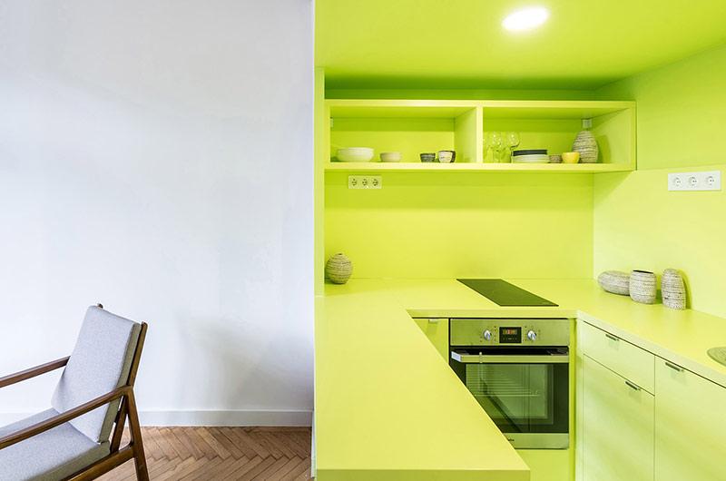 110平单身公寓改造开放式厨房装修