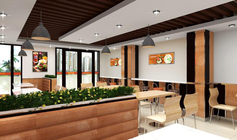 5-10万100㎡美式四居室装修效果图,青浦莱仕汉堡店图