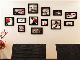 婚纱照照片墙效果图 照片墙摆放的禁忌图片