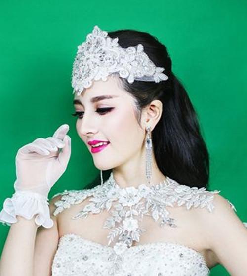 复古新娘发型图片2017