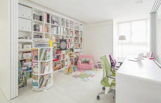 120平北欧风格三居书房效果图装修