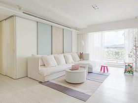 120平北欧风格三居室设计 用幸福装饰家