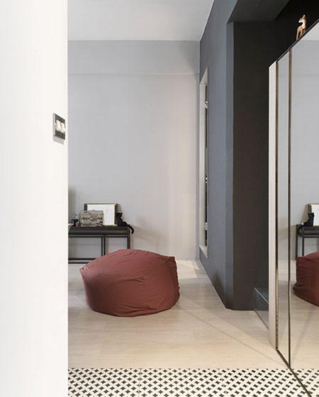 30平单身公寓装修懒人沙发图