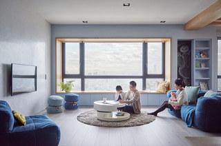 150平简约风格二居客厅效果图