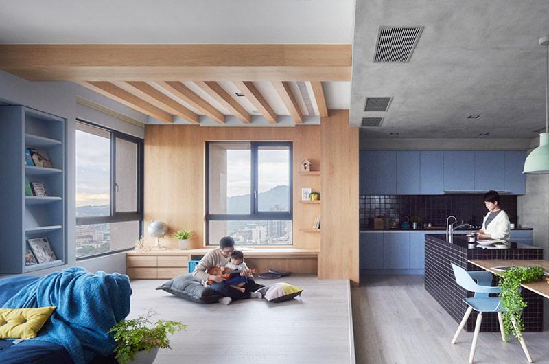 150平简约风格二居客厅木地板图片