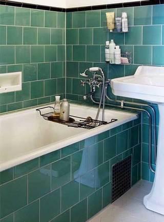 绿色系浴室参考图
