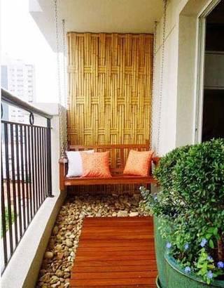 休闲阳台背景墙欣赏图