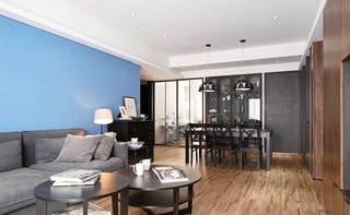 80㎡现代美式两居室整体效果图
