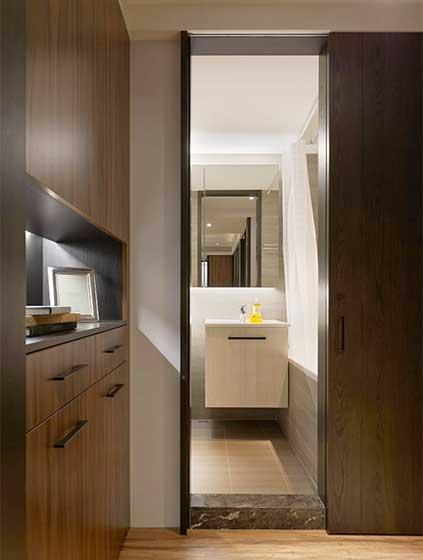 现代美式两居室卫生间构造图