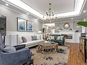 180平美式风格四房装修效果图 云端的画卷