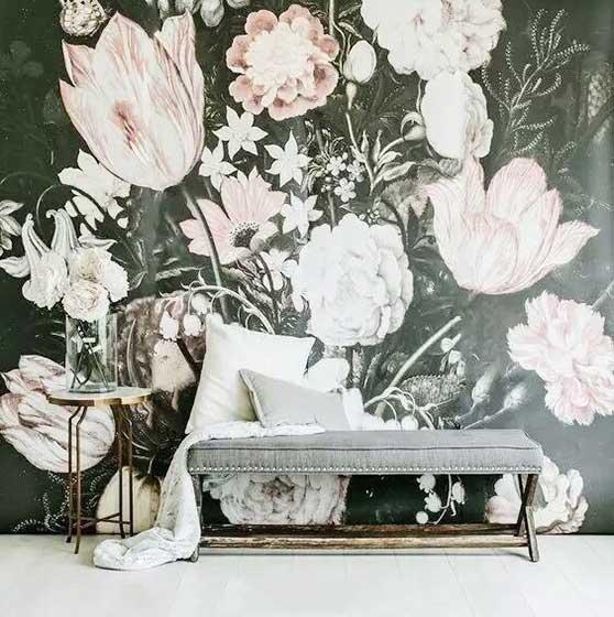 室内彩绘背景墙装修平面图
