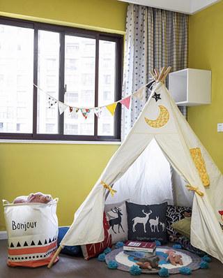 105平简约风格三居儿童房装修