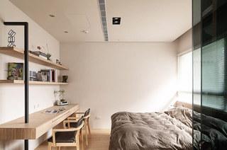 105平简约风格二居卧室装修图