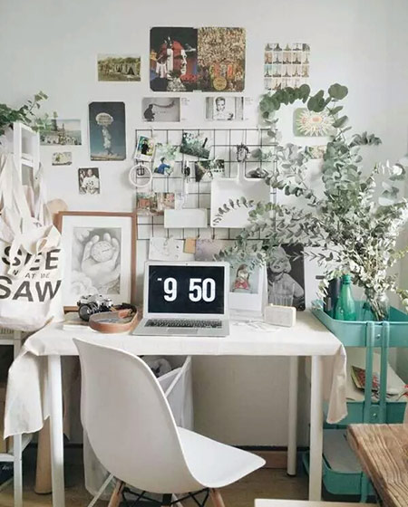 25平小户型一居书桌装修图