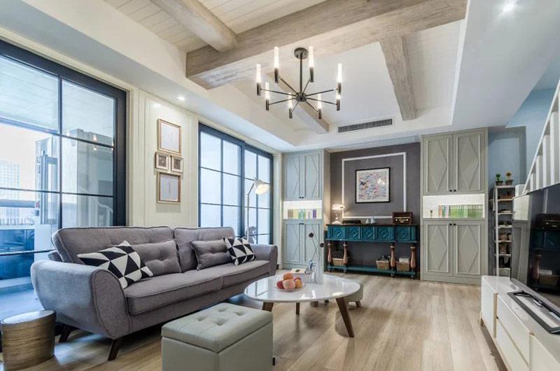 94平小复式楼装修休闲沙发图片