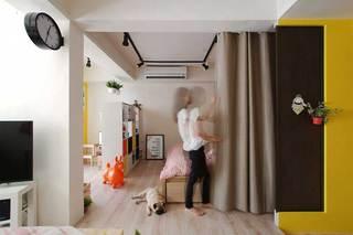 地下室改造公寓窗帘实景图