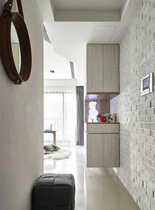 北欧风两居室玄关图片