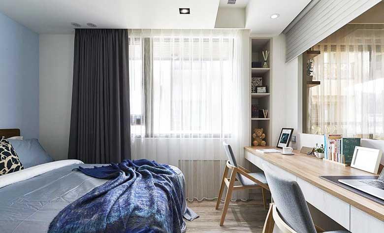 69㎡北欧风两居室卧室参考图