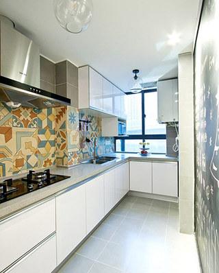 82平混搭风格二居厨房效果图