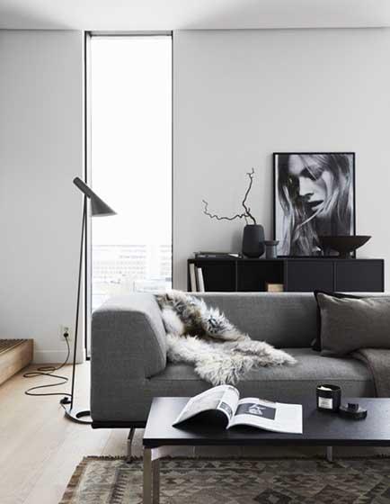 北欧风格客厅设计平面图