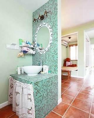 卫生间砖砌洗手池参考图