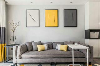 简约风格公寓装修布艺沙发图片