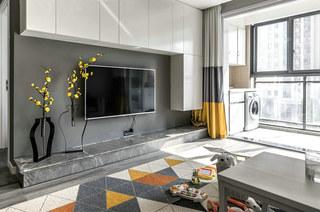 简约风格公寓装修电视背景墙图